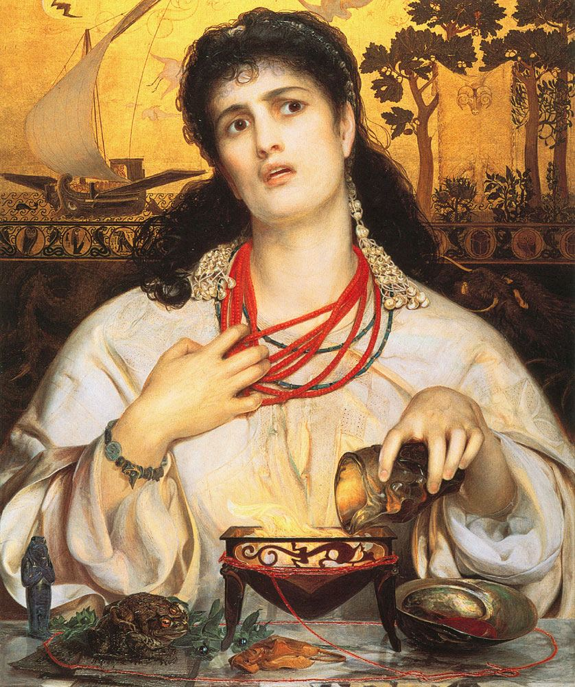 Anthony Frederick Augustus Sandys, Medea                   the Witch (1868)