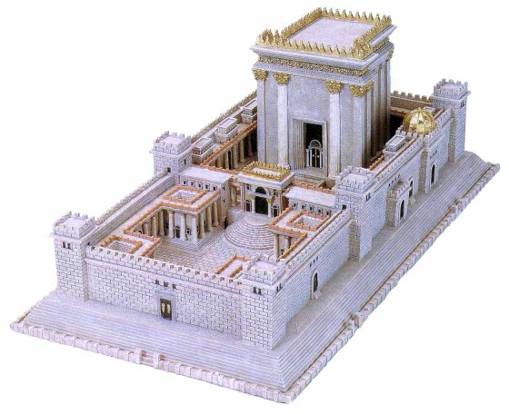 Model of the temple described in ezekiel 40 48 as interpreted by